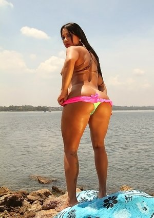 Latinas on Beach Photos